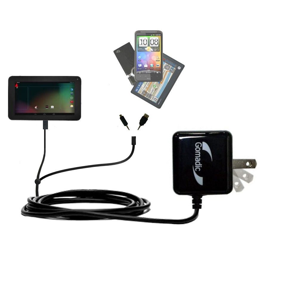 Double Wall Home Charger with tips including compatible with the RCA RCT6272W23