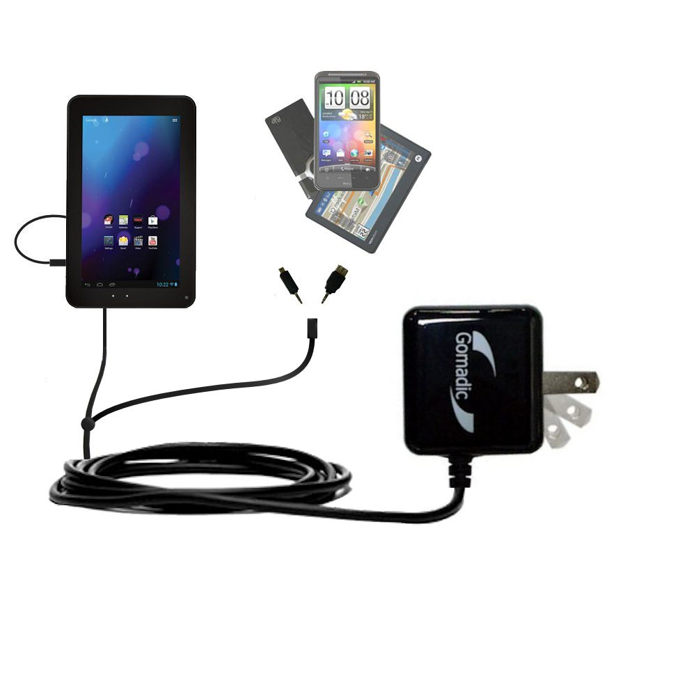 Double Wall Home Charger with tips including compatible with the RCA RCT6378W2
