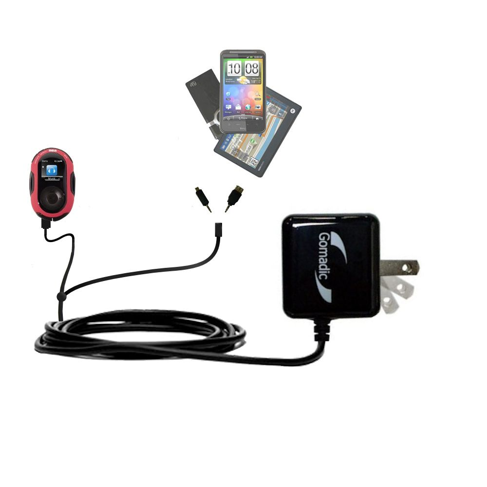 Double Wall Home Charger with tips including compatible with the RCA SC2202 JET Digital Audio Player