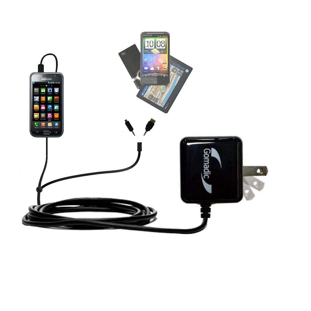Double Wall Home Charger with tips including compatible with the Samsung Galaxy S