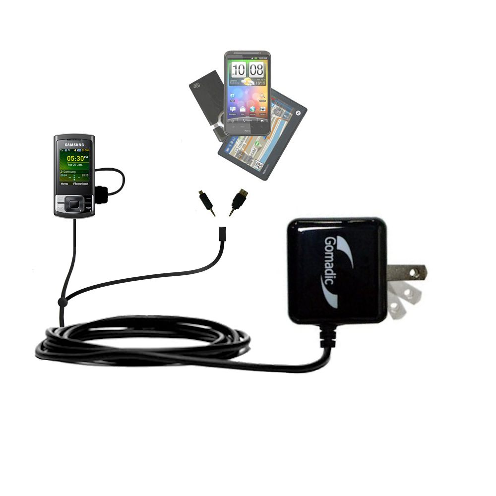 Double Wall Home Charger with tips including compatible with the Samsung GT-C3050