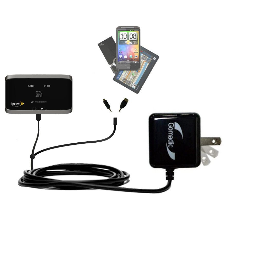 Double Wall Home Charger with tips including compatible with the Sierra Wireless 4G LTE Tri-Fi Hotspot