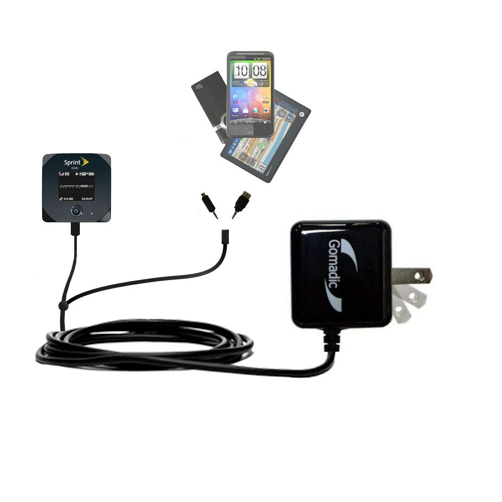 Double Wall Home Charger with tips including compatible with the Sierra Wireless 802S Mobile Hotspot
