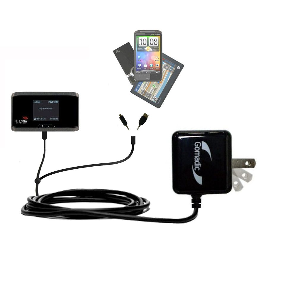 Double Wall Home Charger with tips including compatible with the Sierra Wireless Aircard 754S