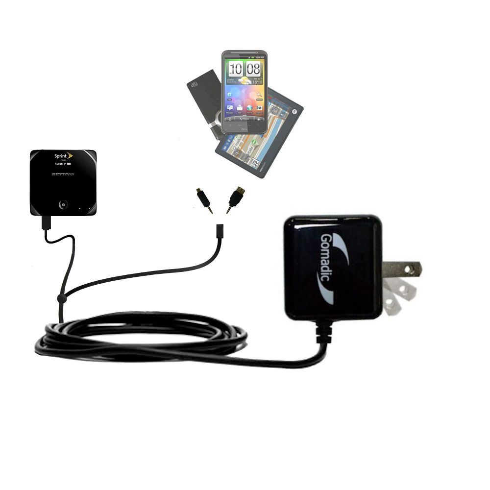Double Wall Home Charger with tips including compatible with the Sierra Wireless Overdrive 3G/4G Mobile Hotspot