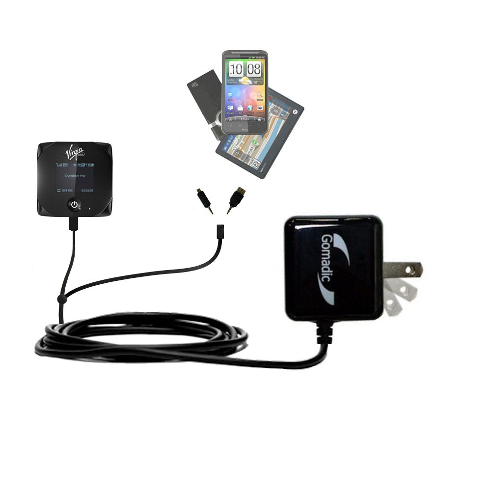 Double Wall Home Charger with tips including compatible with the Sierra Wireless Overdrive Pro