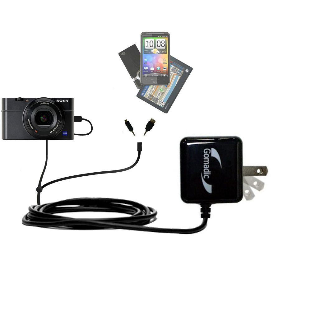 Double Wall Home Charger with tips including compatible with the Sony Cybershot DSC-RX100
