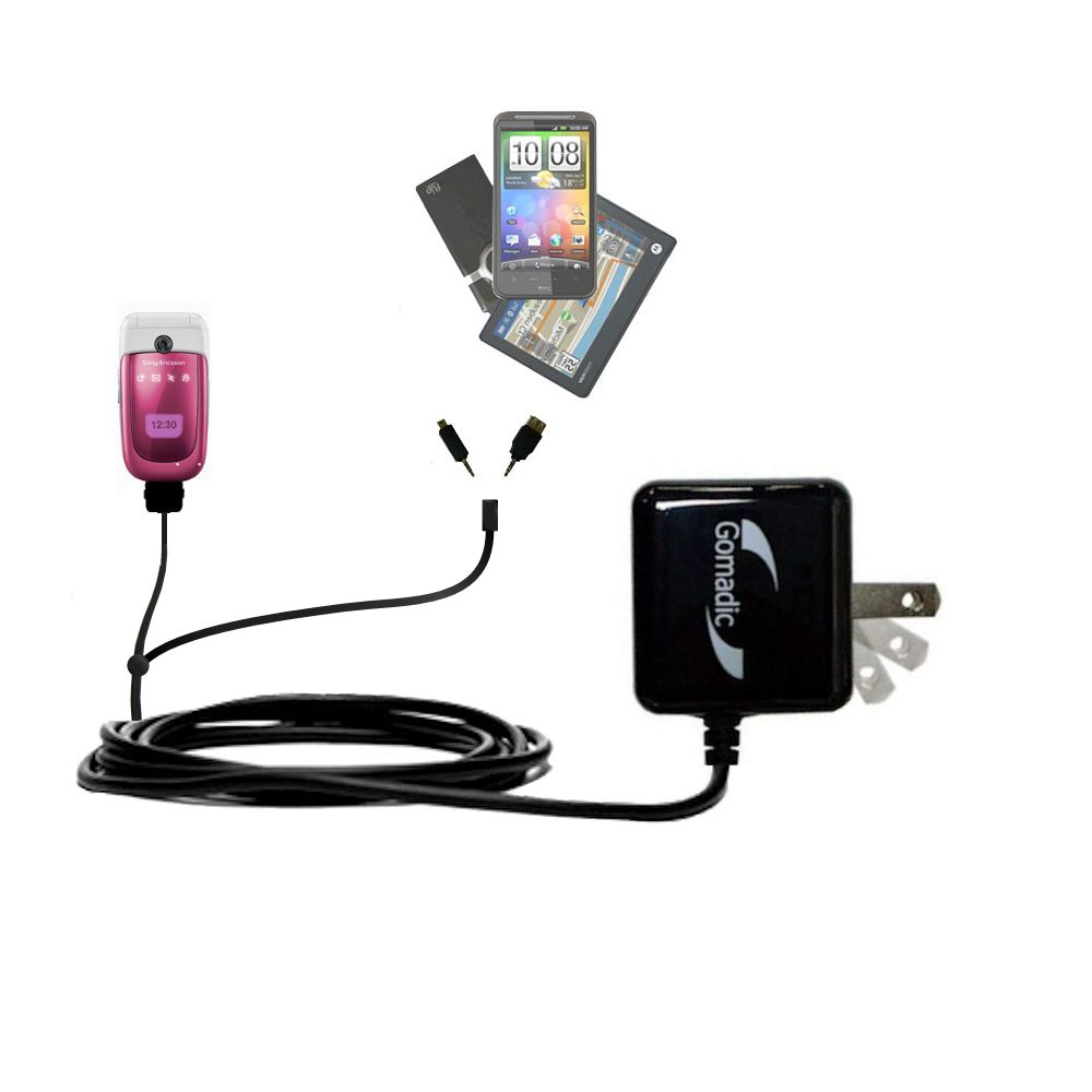 Double Wall Home Charger with tips including compatible with the Sony Ericsson z310i