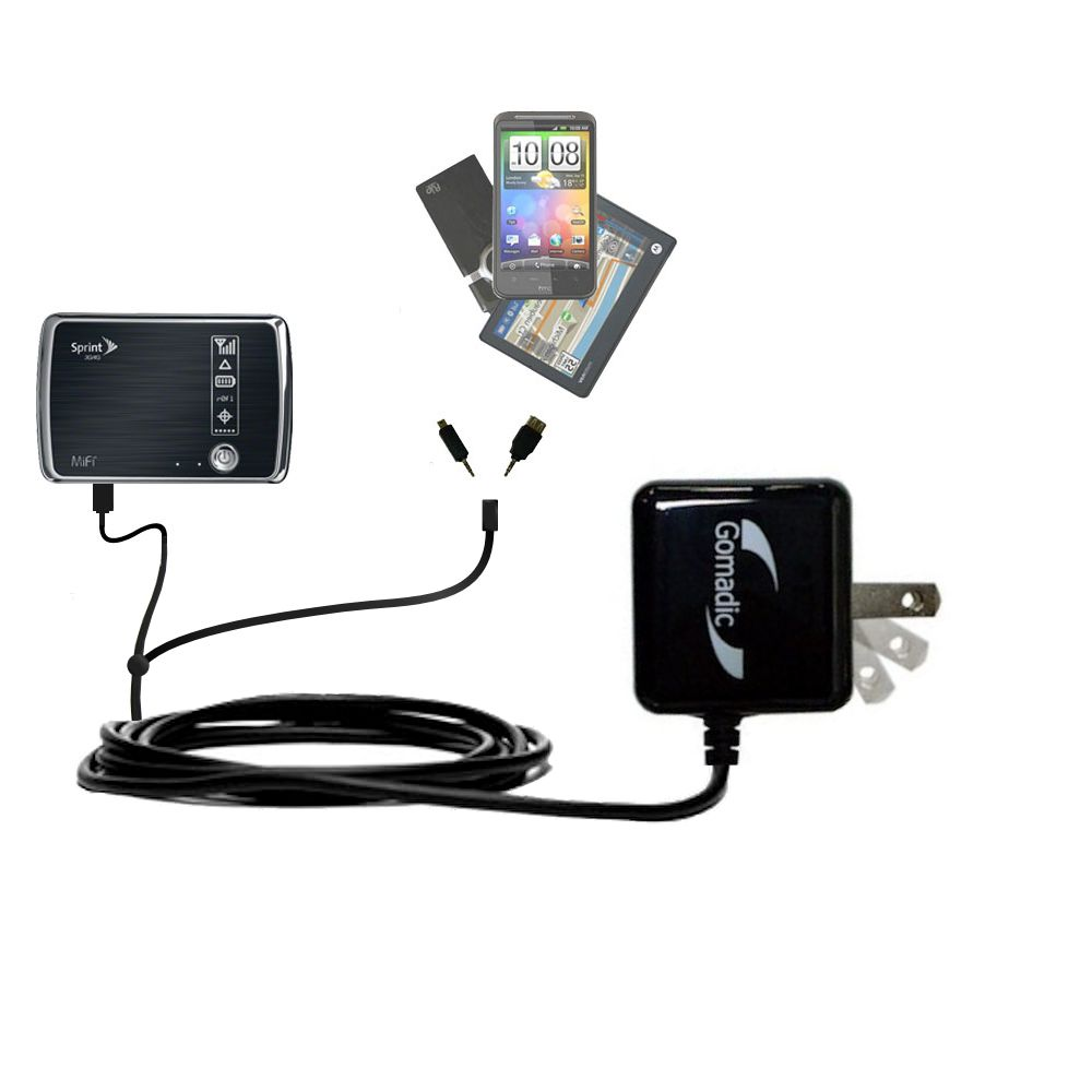 Double Wall Home Charger with tips including compatible with the Sprint 3G/4G Mobile Hotspot
