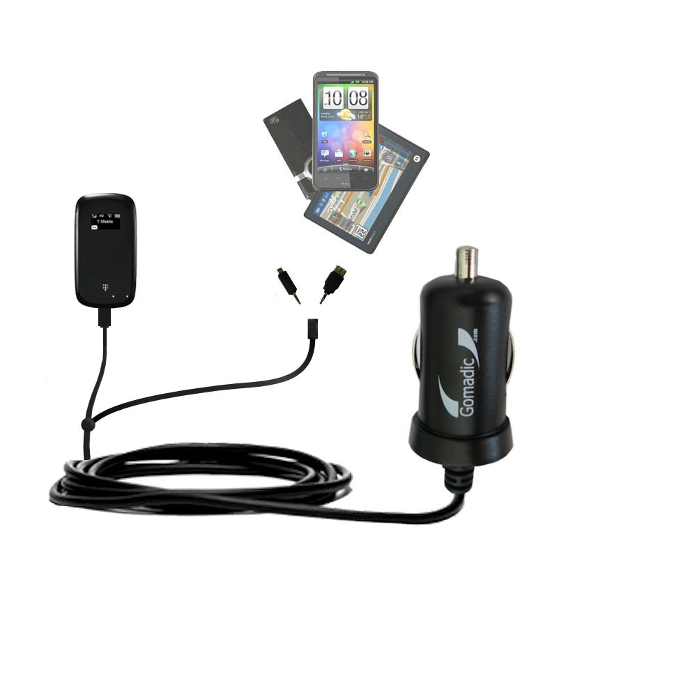 mini Double Car Charger with tips including compatible with the T-Mobile 4G Mobile Hotspot