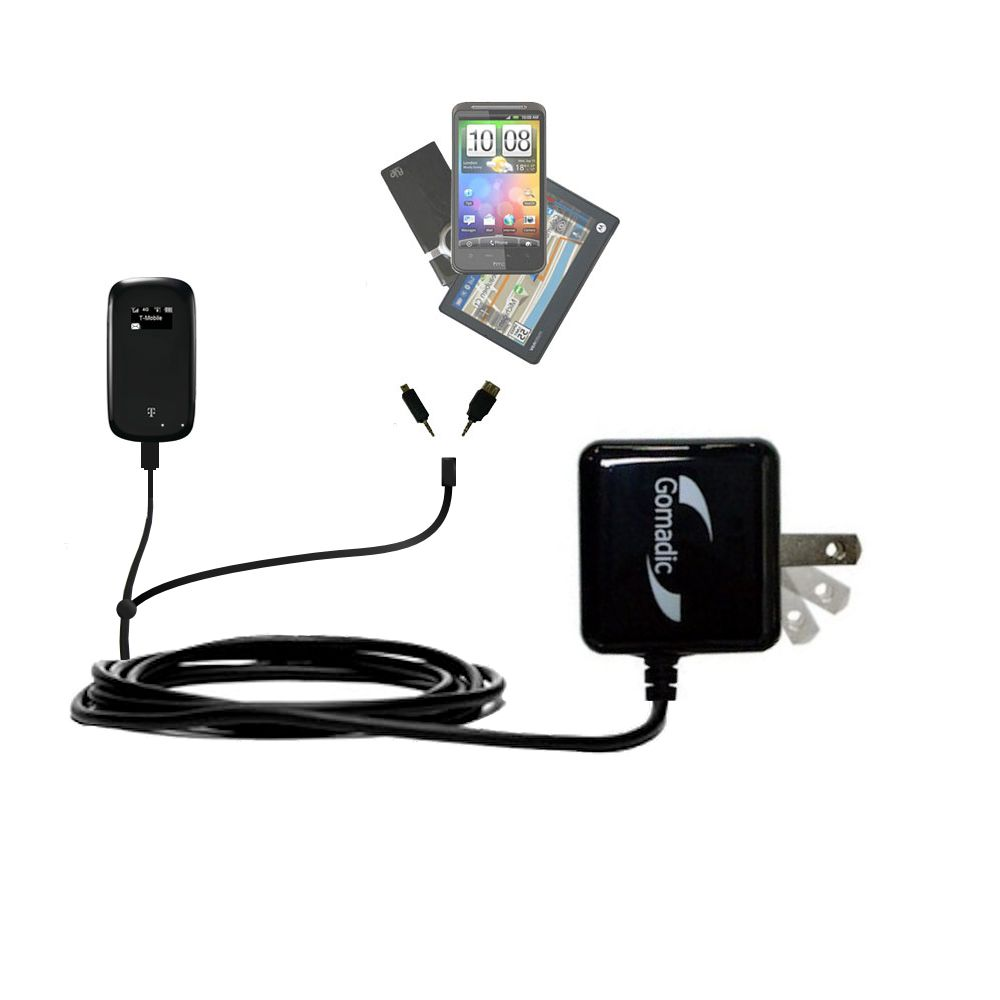Double Wall Home Charger with tips including compatible with the T-Mobile 4G Mobile Hotspot