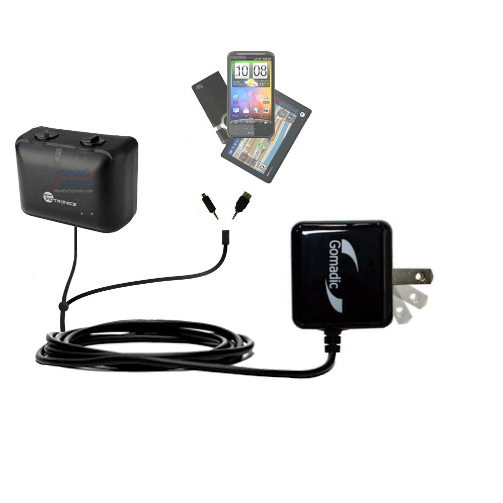 Double Wall Home Charger with tips including compatible with the TaoTronics TT-PT06