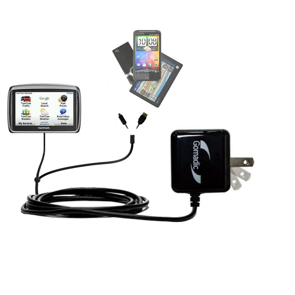 Double Wall Home Charger with tips including compatible with the TomTom 740