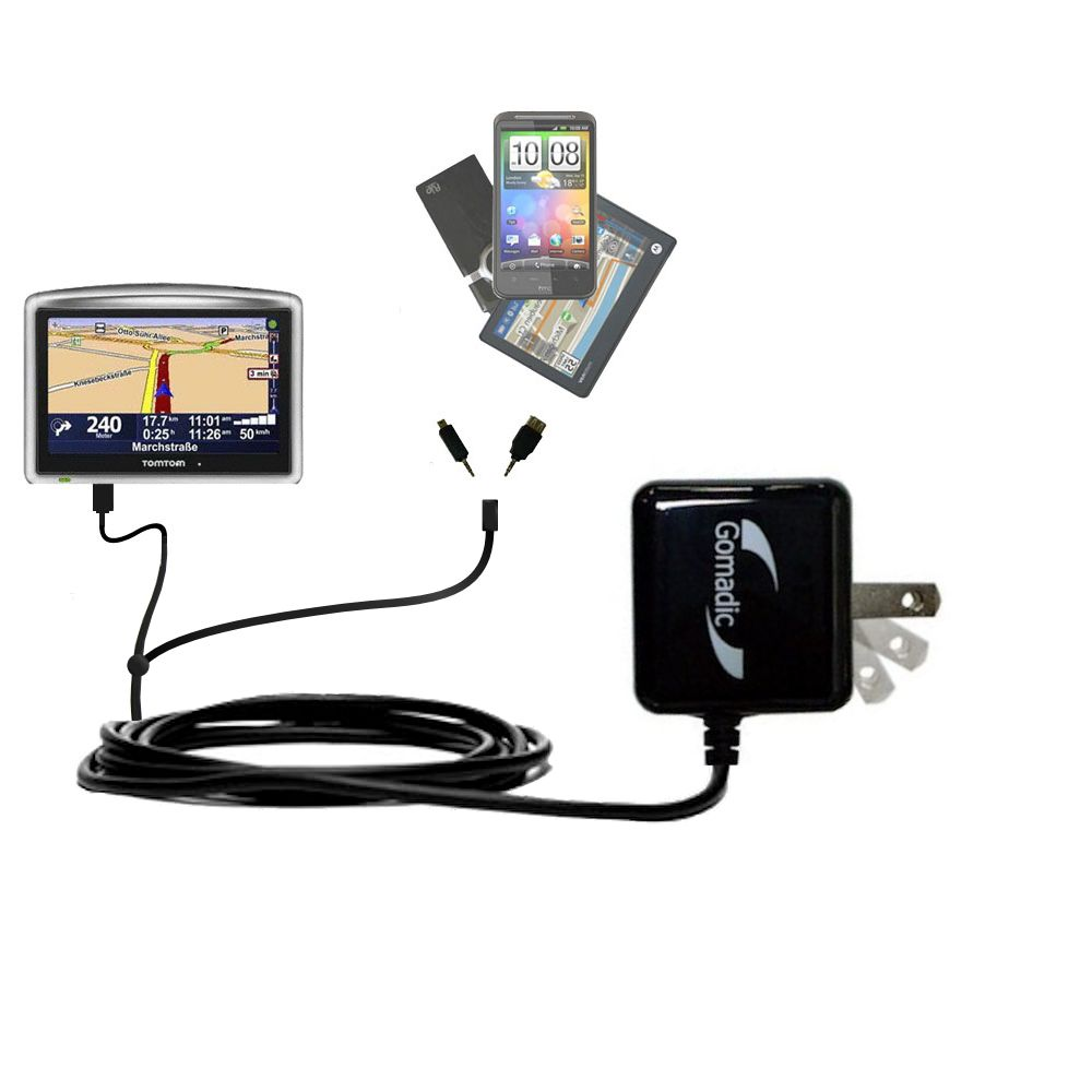 compact and retractable USB Power Port Ready charge cable designed for the TomTom ONE XL Europe and uses TipExchange