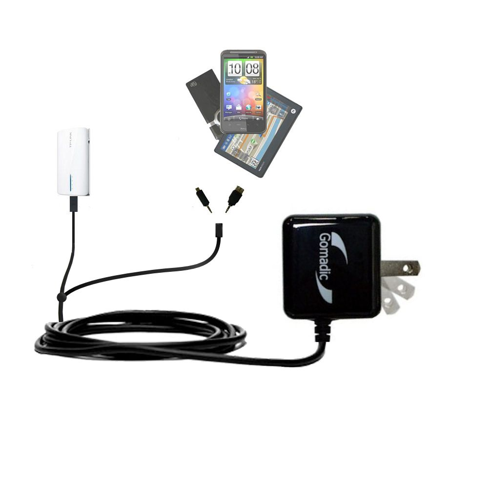 Double Wall Home Charger with tips including compatible with the TP-Link TL-MR3040
