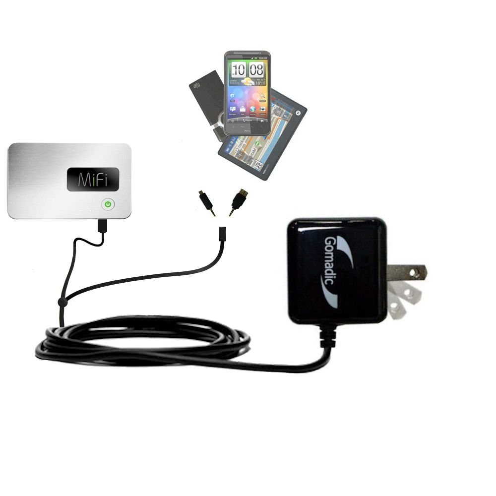 Double Wall Home Charger with tips including compatible with the Walmart Internet on the Go