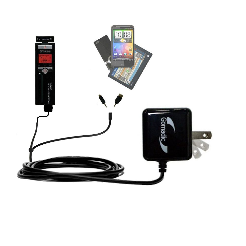 Double Wall Home Charger with tips including compatible with the Yamaha Pocketrak 2G
