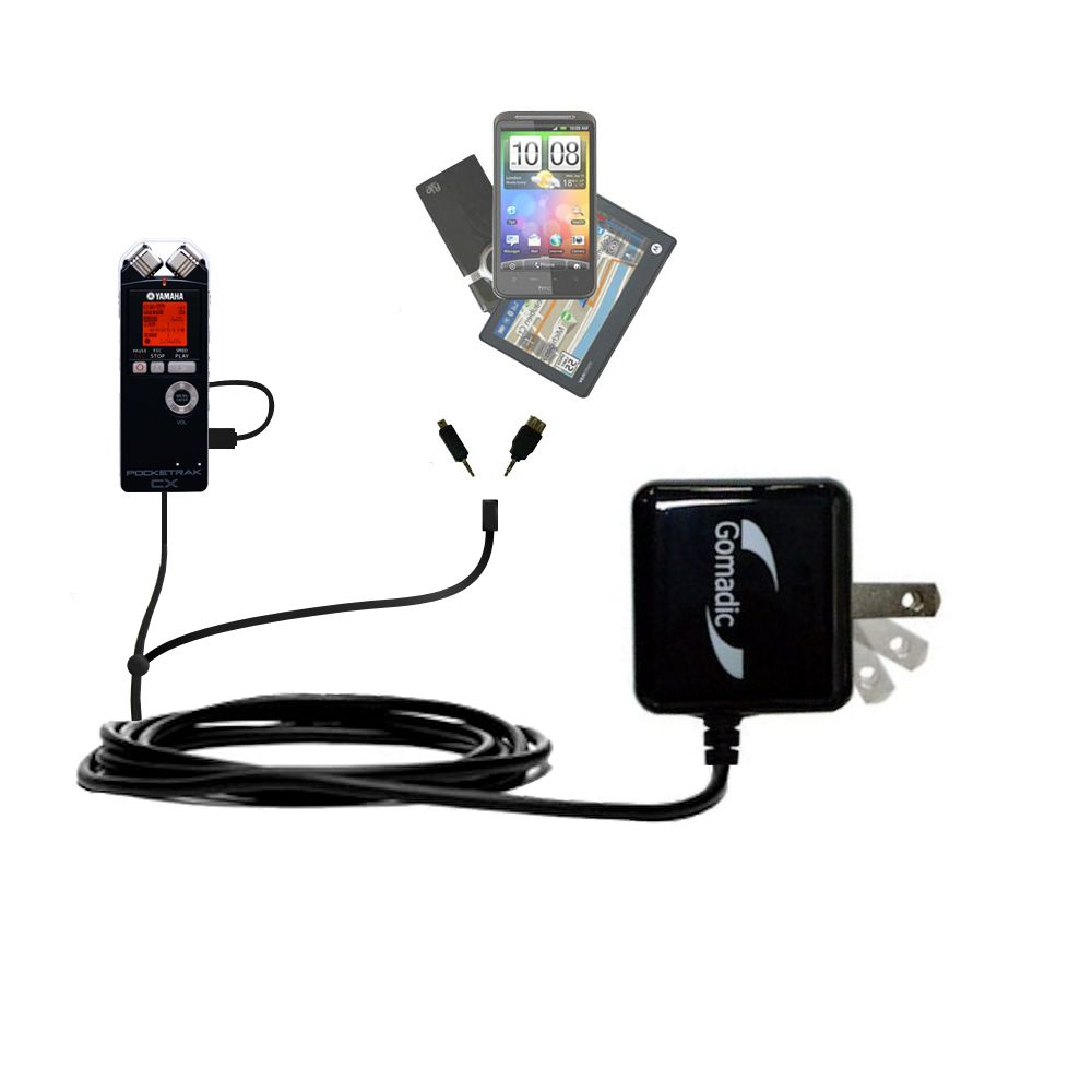 Double Wall Home Charger with tips including compatible with the Yamaha Pocketrak CX