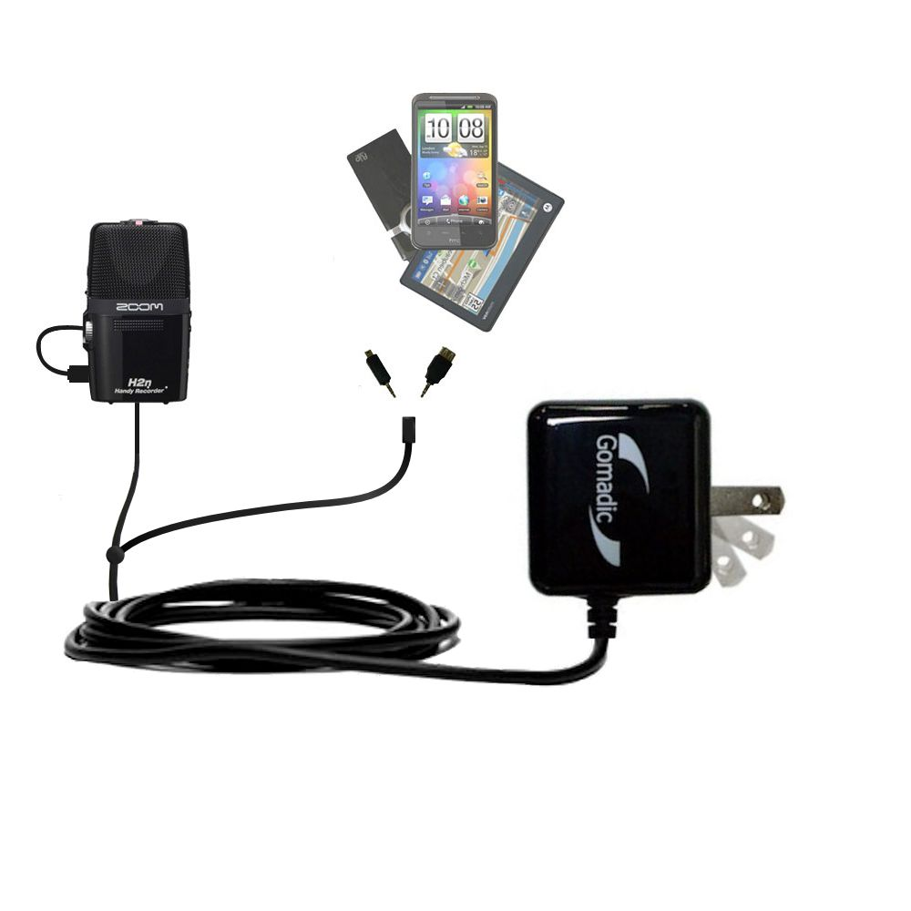 Double Wall Home Charger with tips including compatible with the Zoom H2n