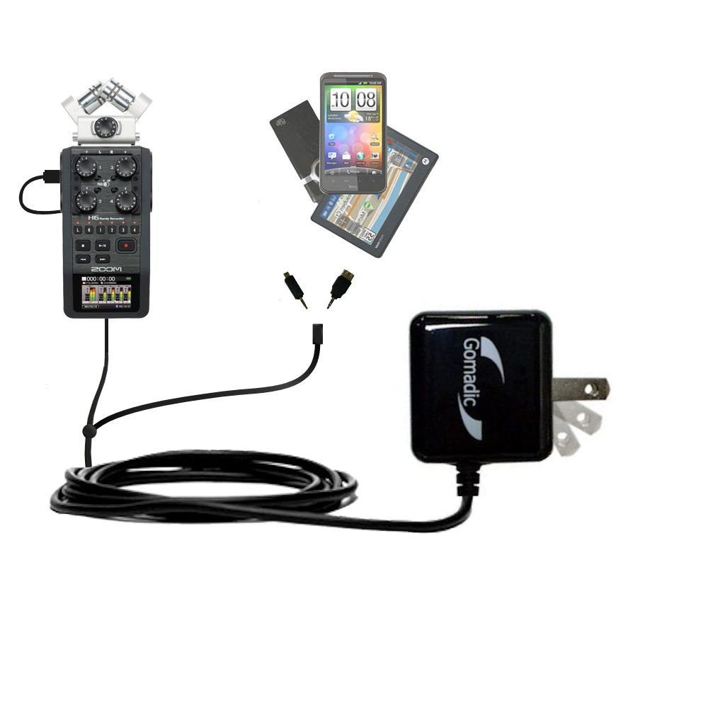 Double Wall Home Charger with tips including compatible with the Zoom H6