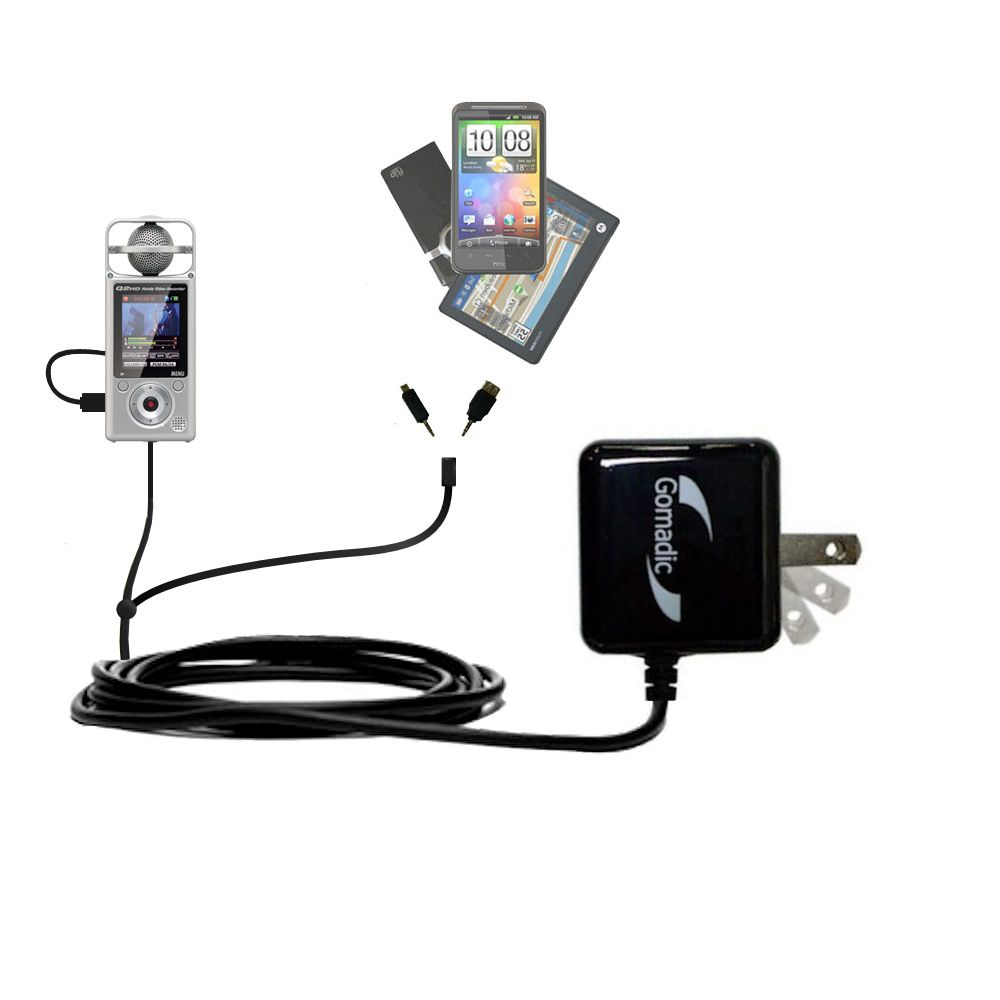 Double Wall Home Charger with tips including compatible with the Zoom Q2HD