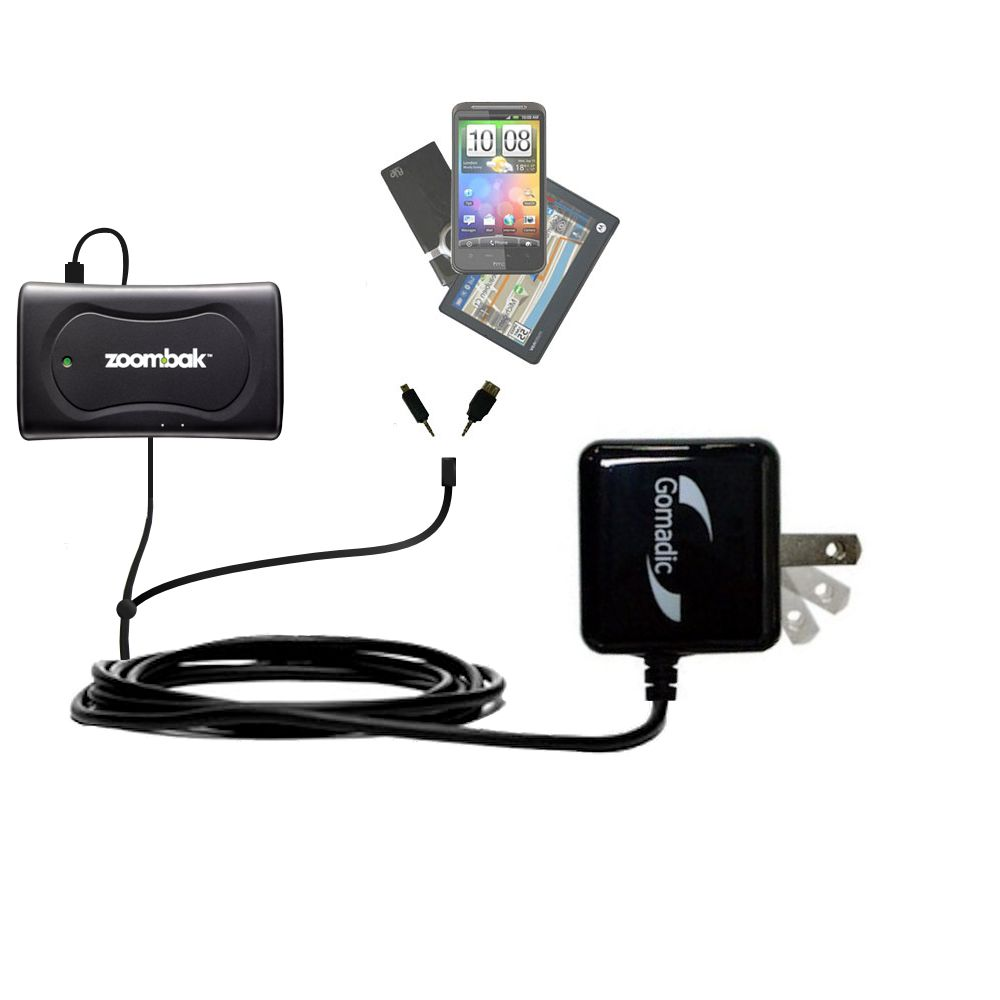 Double Wall Home Charger with tips including compatible with the Zoombak Advanced GPS Universal Locator
