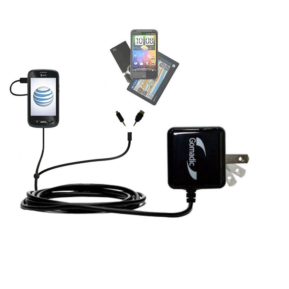 Double Wall Home Charger with tips including compatible with the ZTE Merit Z990G
