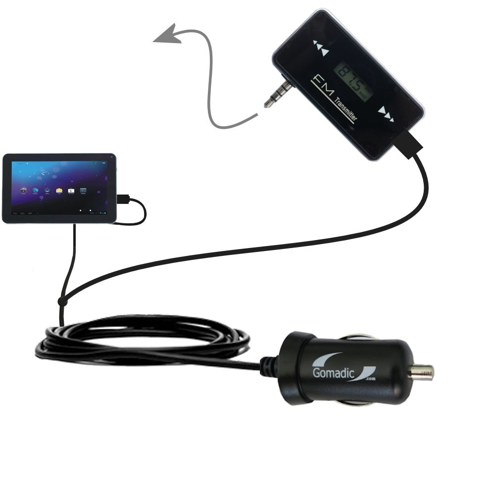 FM Transmitter Plus Car Charger compatible with the Double Power DOPO M975