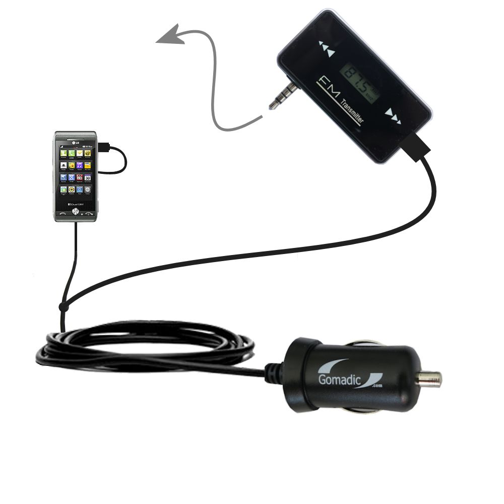 FM Transmitter Plus Car Charger compatible with the LG GX500