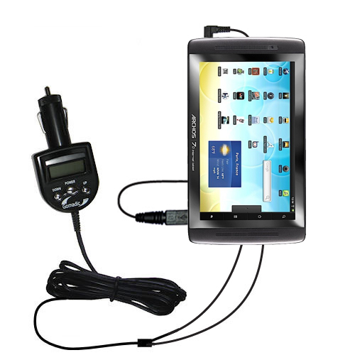 FM Transmitter & Car Charger compatible with the Archos 101 Internet Tablet
