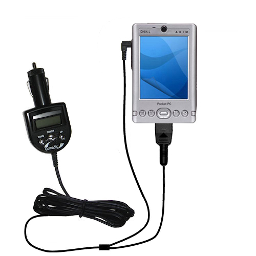 FM Transmitter & Car Charger compatible with the Dell Axim x3 x3i