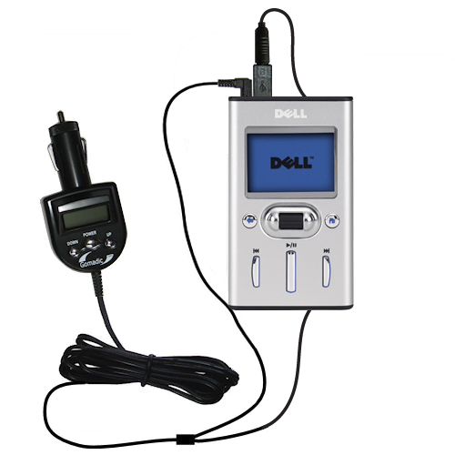 FM Transmitter & Car Charger compatible with the Dell Pocket DJ 20GB 30GB