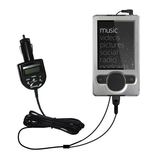FM Transmitter & Car Charger compatible with the Microsoft Zune (2nd and Latest Generation)