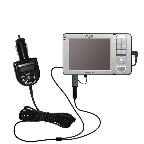 FM Transmitter & Car Charger compatible with the Mio 169