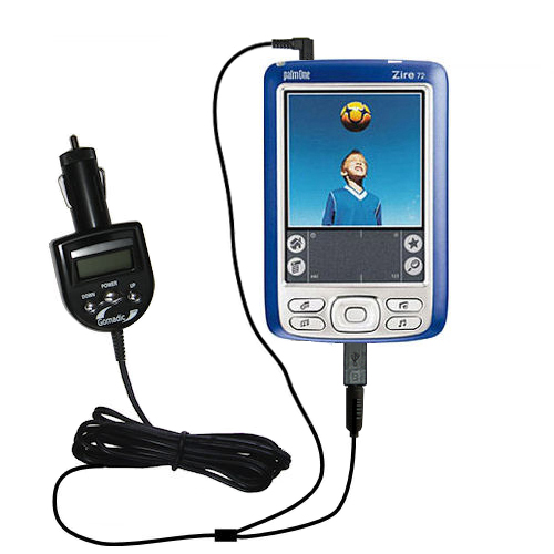 FM Transmitter & Car Charger compatible with the Palm palm Zire 72s