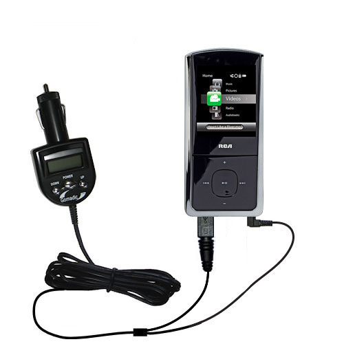 FM Transmitter & Car Charger compatible with the RCA MC4302 MC4304MC4308 Digital