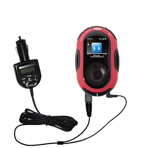 FM Transmitter & Car Charger compatible with the RCA S2202 S2204 JET