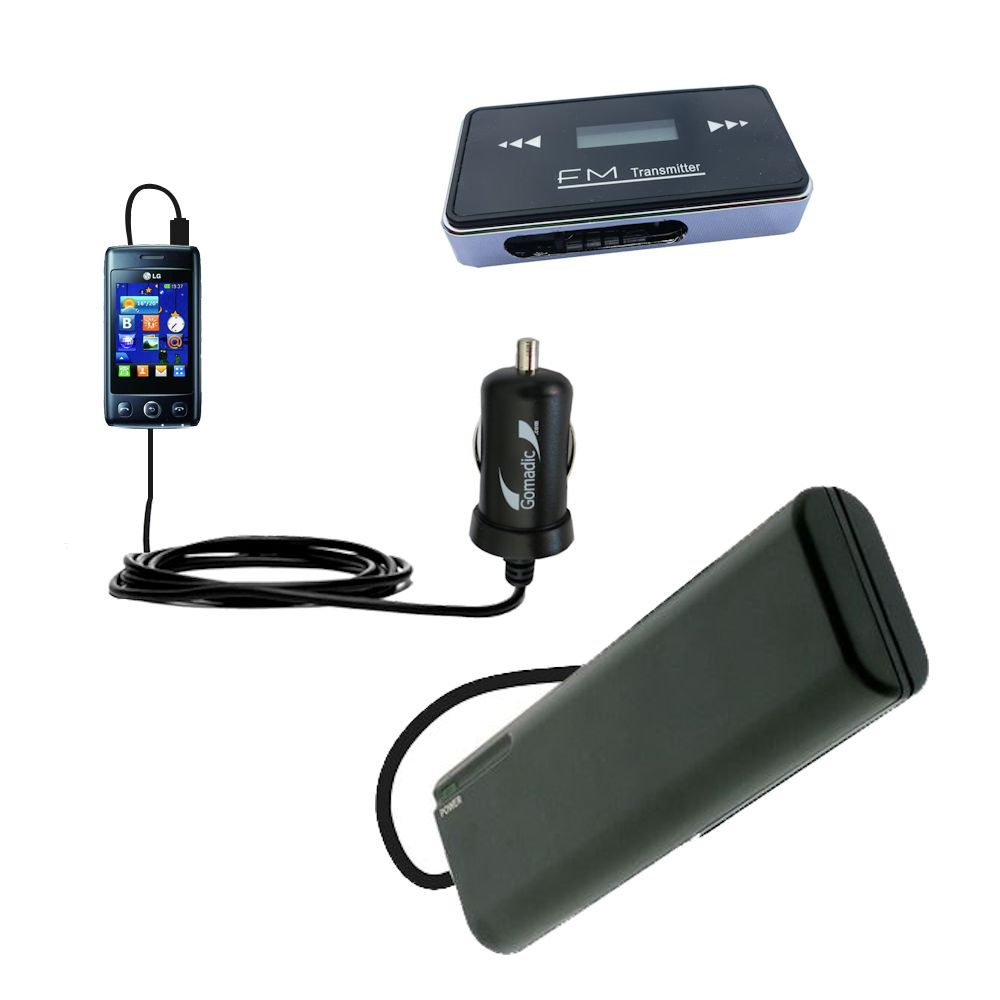holiday accessory gift bundle set for the LG T300