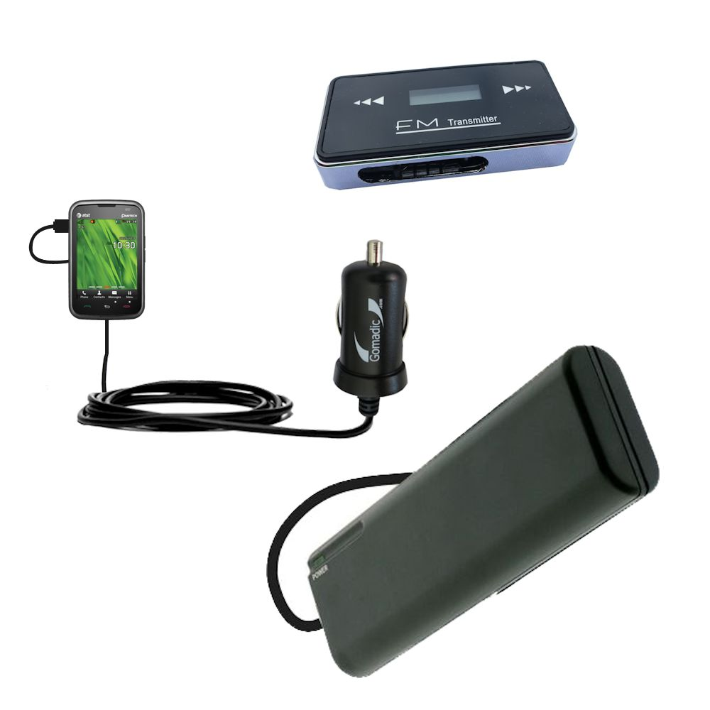 Gomadic Portable External Battery Charging Kit Suitable