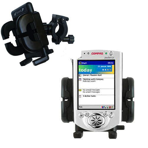 Handlebar Holder compatible with the Compaq iPAQ h3600 Series