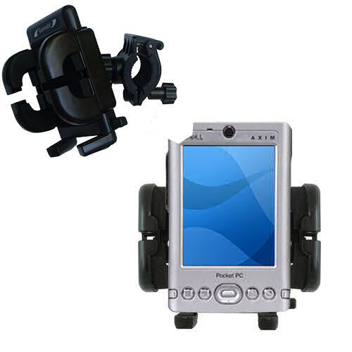 Handlebar Holder compatible with the Dell Axim x3 x3i