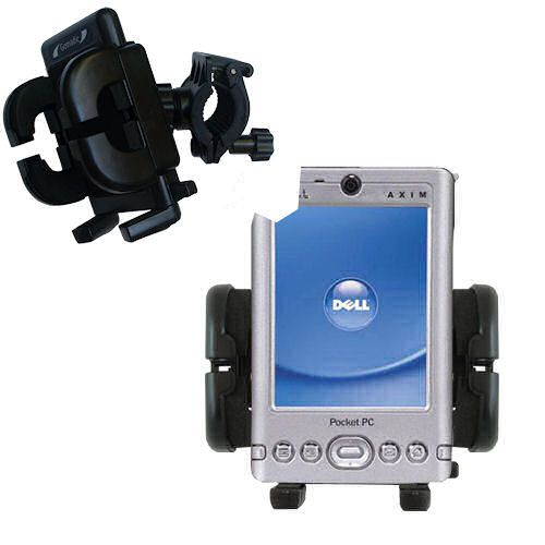 Handlebar Holder compatible with the Dell Axim x3i