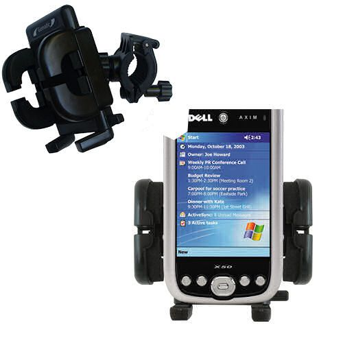 Handlebar Holder compatible with the Dell Axim X50 X50v