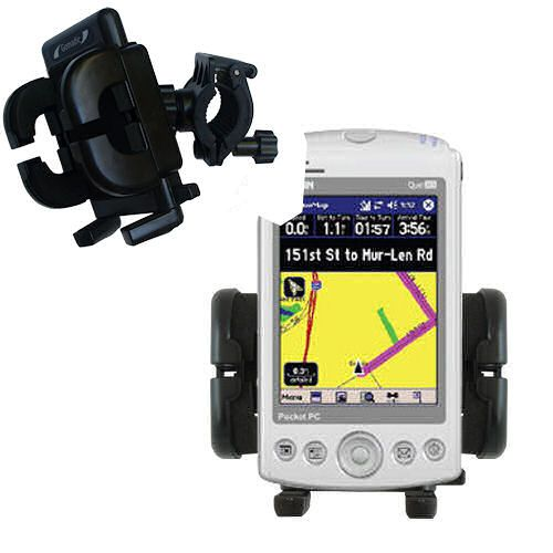 Handlebar Holder compatible with the Garmin iQue M3