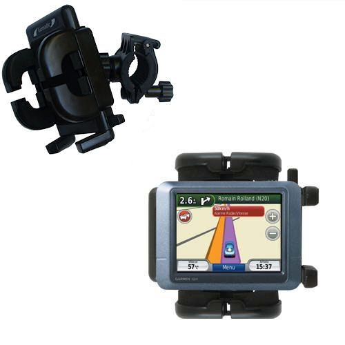 Gomadic Bike Handlebar Holder Mount System suitable for the Garmin nuvi 255T - Unique Holder; Lifetime Warranty