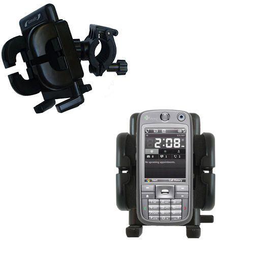 Gomadic Bike Handlebar Holder Mount System suitable for the HTC S730 - Unique Holder; Lifetime Warranty