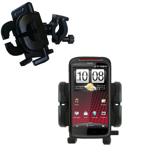 Handlebar Holder compatible with the HTC Sensation XE