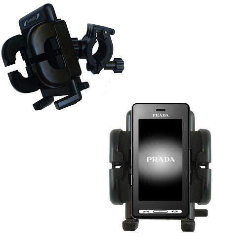 Handlebar Holder compatible with the LG KE850 Prada
