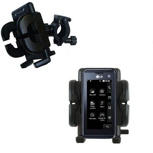 Handlebar Holder compatible with the LG KF700 / FG-700