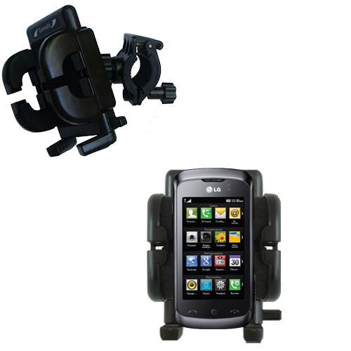 Handlebar Holder compatible with the LG KM555E